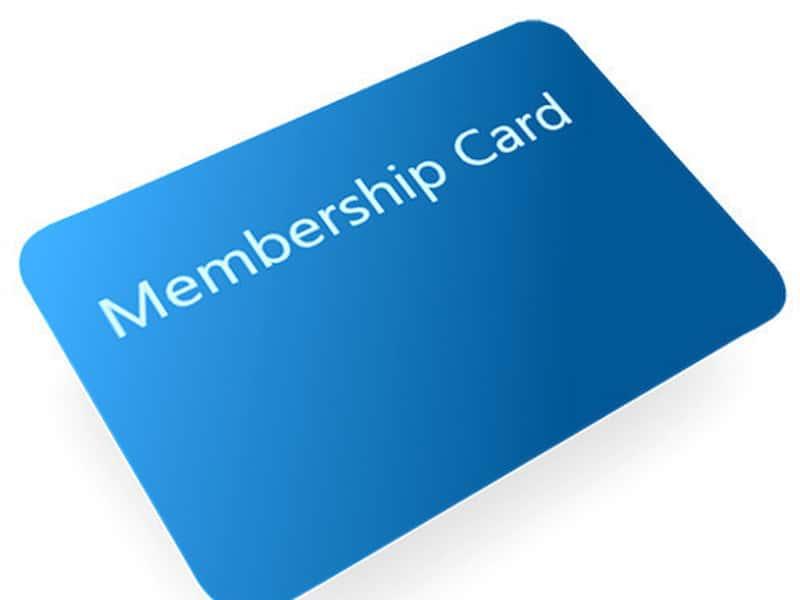 Screen-printed Membership Cards